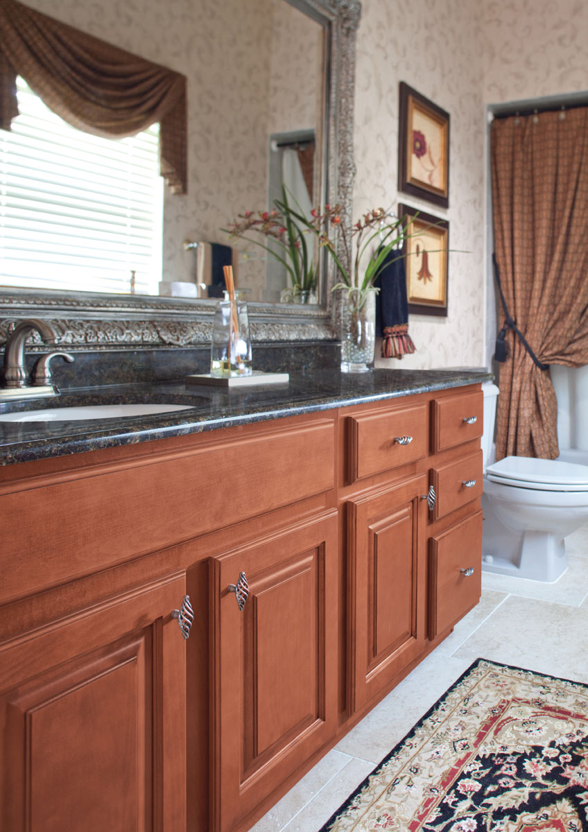 Waypoint Bathroom Style 510 in Maple Auburn Glaze