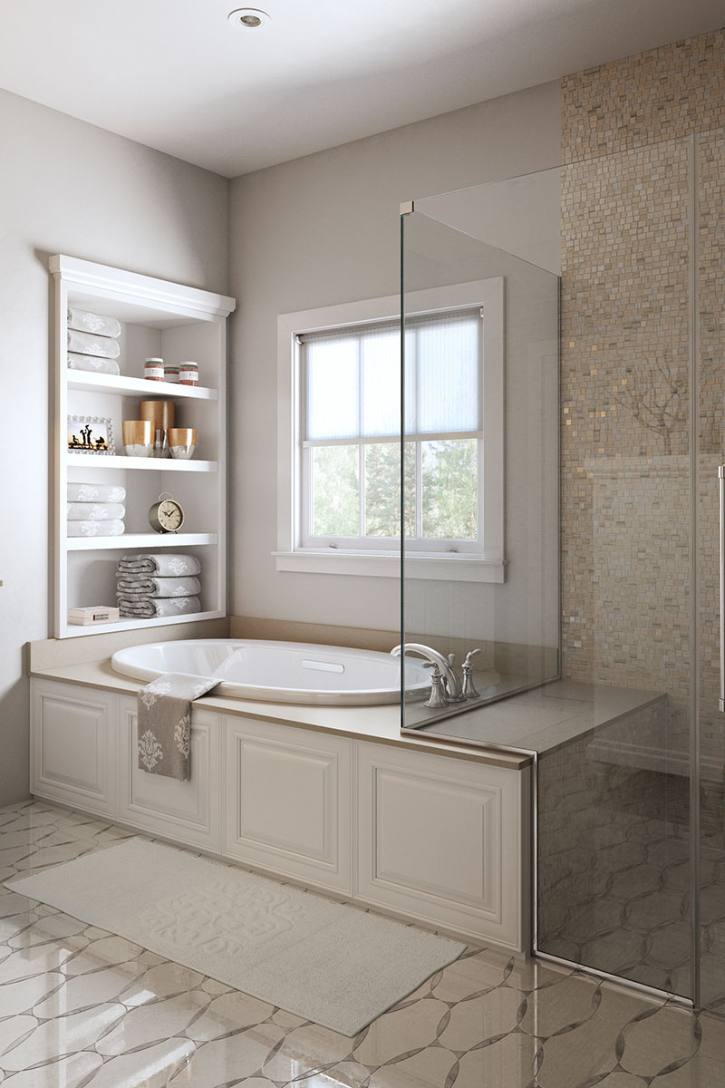 Waypoint Bathroom Style 720F in Painted Linen