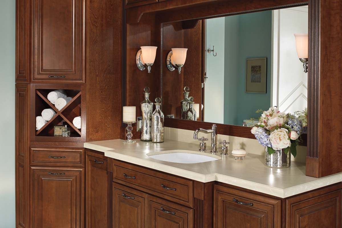 Waypoint Bathroom Style 740 In Cherry Chocolate Claze
