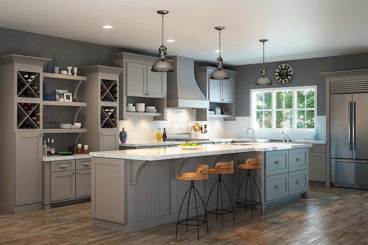 Waypoint Kitchen Style 650F in Painted Stone