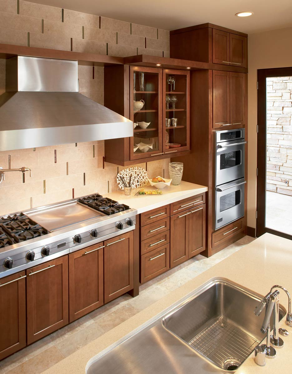 Chocolate cabinets in kitchen precious home design for F kitchen lancaster