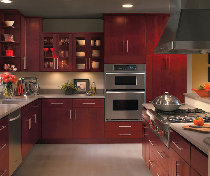 Burgundy kitchen cabinets casa amazonas lancaster for Amazon kitchen cabinets