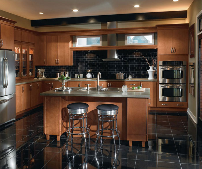 Contemporary Maple Kitchen Cabinets Casa Amazonas Lancaster California