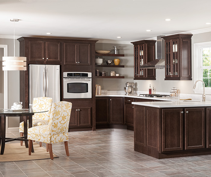 Dark Cherry Kitchen Cabinets Casa Amazonas Lancaster California