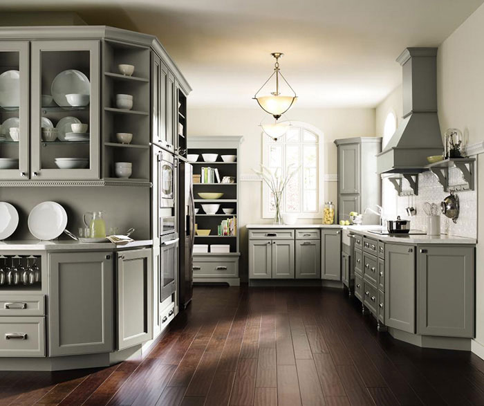 Homecrest Kitchens - Soft gray kitchen cabinets