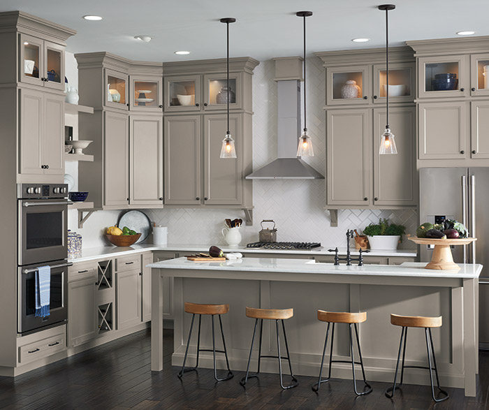Aristokraft Kitchens - Where to buy gray kitchen cabinets