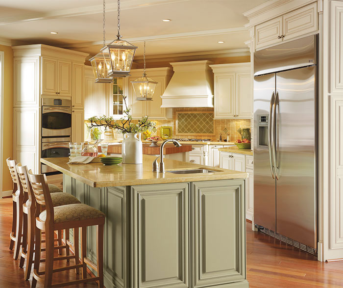 Off White Cabinets With Glaze Traditional Kitchen Casa Amazonas Lancaster California