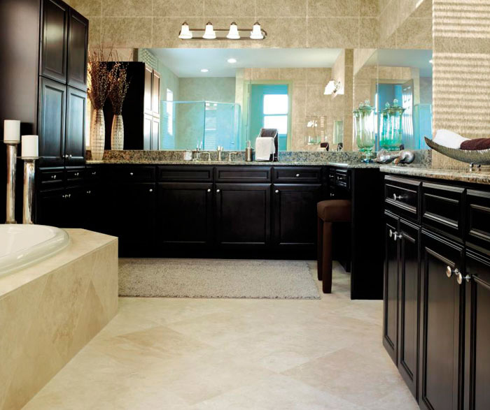 Sarsaparilla Cabinets In A Traditional Bathroom