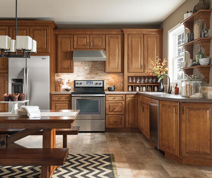 Brown Kitchen Cabinets: Aristokraft Kitchens