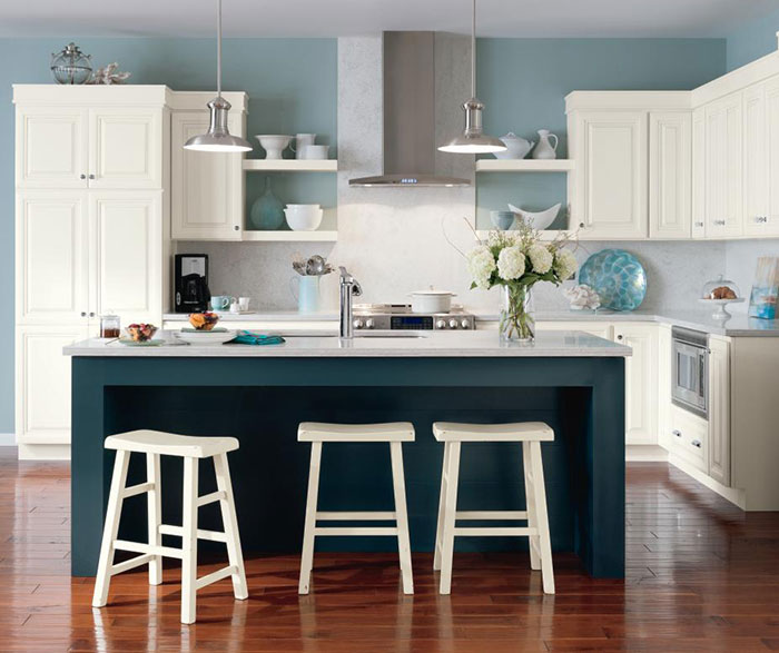 Superieur White_glazed_cabinets_blue_kitchen_island_2 U2013 Casa Amazonas U2013 Lancaster,  California