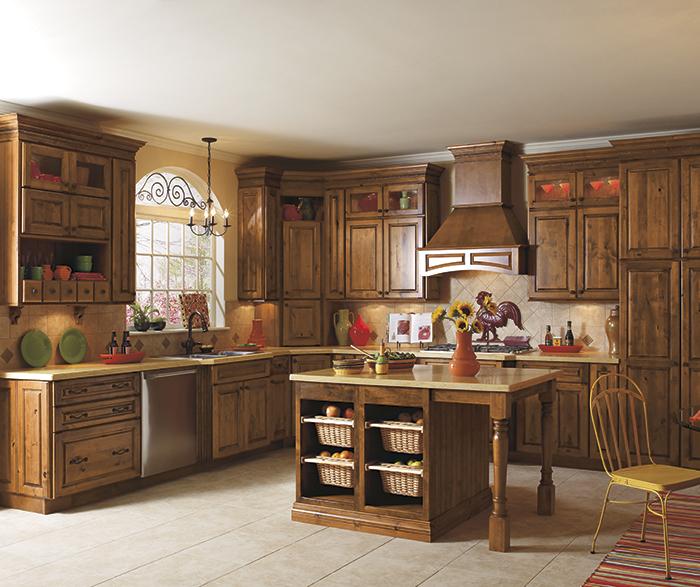 California Kitchen Cabinets: Rustic_alder_kitchen_cabinets